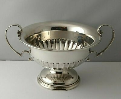 Fine Solid Silver Trophy Bowl - 362g - Walker & Hall Sheffield 1931