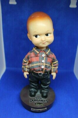 Vintage Buddy Lee Cowboy Doll Flannel Shirt Jeans Belt Outfit