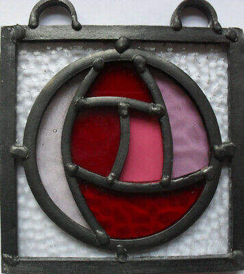 stained glass panel mackintosh rose