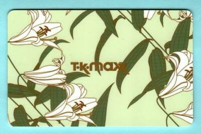 T.K. MAXX ( UK ) Easter Lilies 2012 Gift Card ( $0 )