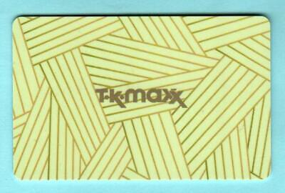 T.K. MAXX ( UK ) Intersecting Strips 2012 Gift Card ( $0 )