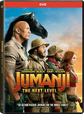Jumanji: The Next Level (DVD only with box, 2019) (These Go Fast)