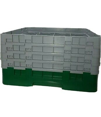 Cambro BR258 Camrack Green 16 Compartment Glass Rack 4 Extender