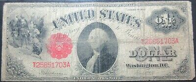 1917 Fr# 39 United States Speelman White One Dollar Legal Tender Note