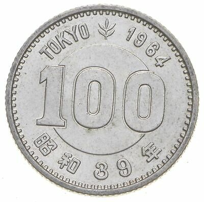 SILVER Roughly the Size of a Quarter 1964 Japan 100 Yen World Silver Coin *877