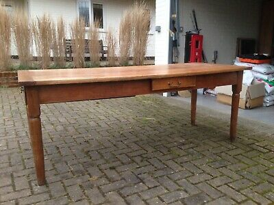 French antique cherrywood refectory table