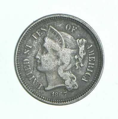 1867 Nickel Three-Cent Piece - Jacobs Coin Collection *690