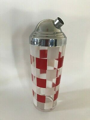 Vintage Red checker Martinti Shaker Cocktail