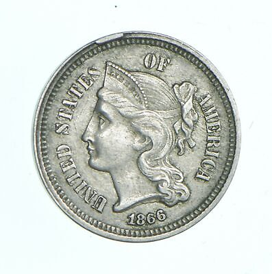 1866 Nickel Three-Cent Piece - Jacobs Coin Collection *724