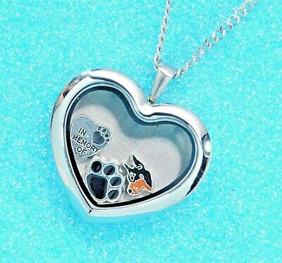 Doberman Heart Memory Locket Necklace || Dog Keepsake Jewelry || Dobie Memorial