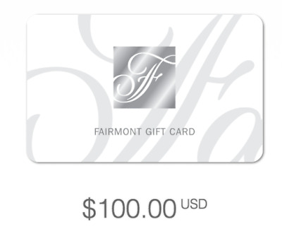 Fairmont Hotels Gift Card $100 USD