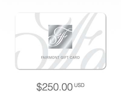 Fairmont Hotels Gift Card $250 USD