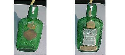 1897 Old Clover Whiskey Pint Bottle Embossed Leaves Medicine  Shot Glass Cap