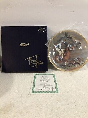 Alysheba 1988 Horse of the Year Fred Stone Collector's Plate w/ COA & Box