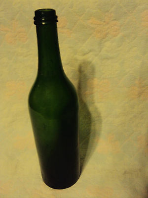 Antique Olive Green Wine/Bitters Bottle,Tooled Applied Lip
