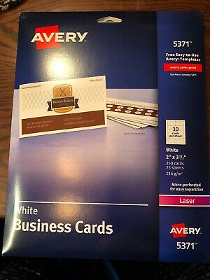Avery 5371 White Business Cards Laser