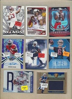 (75) NFL Huge Football Lot - JERSEY AUTO, JOE BURROW RC, PATRICK MAHOMES RC ++