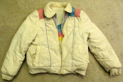 1980's reversible Coat Vintage White Pink Little Girls clothing