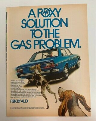 1974 Audi Fox By Audi Original Print Ad A Foxy Solution To The Gas Problem