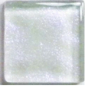 IRIDESCENT CRYSTAL WHITE METALLIC Glass Mosaic Tiles - 3/4 inch - 20 count