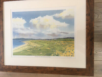 Royal Dornoch Golf Course Print View from 11th Green Framed