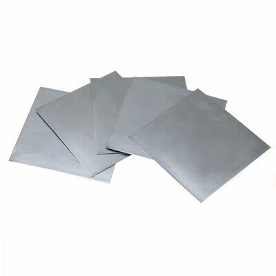 5pc High Purity 99.9% Pure Zinc Sheet Plate for Science Lab 40mmx140mmx0.2mm