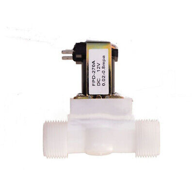 1/2Inch Water Solenoid Valve Electric Magnetic DC N/C Air Inlet Flow Switch UK