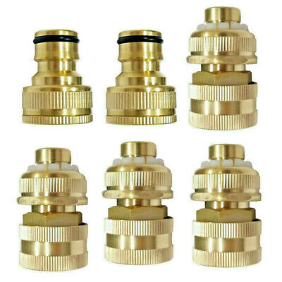 Rust Proof Garden Lawn Water Hose Tap Connector Adapter Coupler Fittings Tools
