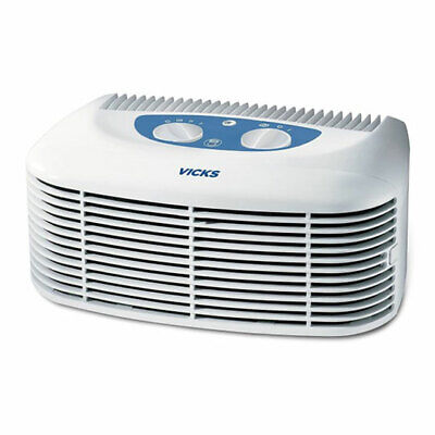 Vicks V-9071E1 Compact Air Purifier HEPA Filtering with Built in Ionizer Get Cle