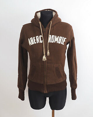 Abercrombie & Fitch Girl's Brown Zip Front Hooded Jacket Size Large
