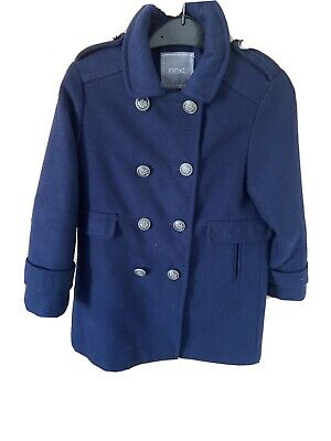 Next Navy Blue Military Style Coat In Age 6!! Fabulous Condition!!