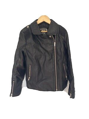 River island Girls Faux Leather Jacket Age 9