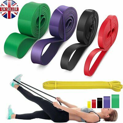 5X Resistance Bands Pull Up Heavy Duty Set Assisted Exercise Home Gym Fitness UK