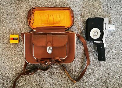 Konica 8mm Film Camera with leather carry case