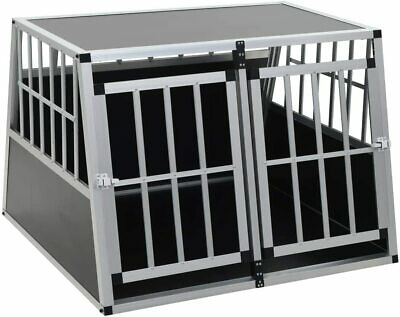 vidaXL Dog Cage with Double Door, Pet Puppy House Carrier Crate 94 x 88 x 69 cm