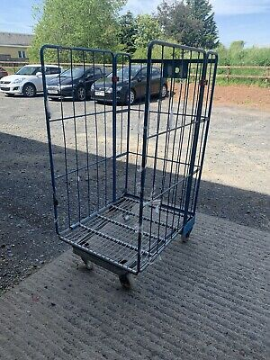 Warehouse Metal Roll Cage Trolleys