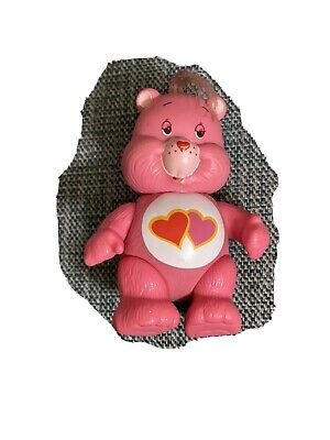 Vintage Care Bears 'Love-A-Lot Bear' pink 1984 poseable figure 1980's retro toys