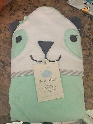 Panda Hooded Bath Towel - Cloud Island Mint Green One Size new with tags