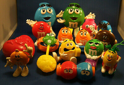 Mixed Lot of 15  M&M Dispensers, figures and Toys