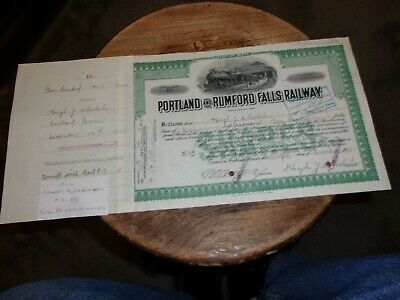 Portland And Rumford Falls Railway Issued 1908