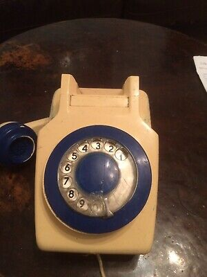 Old Fashioned Dial Wall Phone 1960's Needs Jack Connection To Work