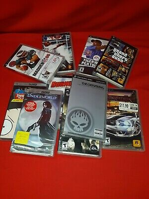 Video Games Assorted PSP Games Movies Music Videos - Titles Added Frequently