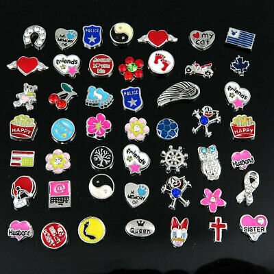 Betsey Johnson 50PC  Mix Floating Charms For Glass Living Memory Locket Necklace