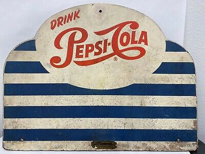 Vintage Wood Painted Drink Pepsi Cola Display Rack Topper Masterack