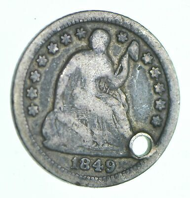 1849-O Seated Liberty Half Dime - Holed Coin Collection *853