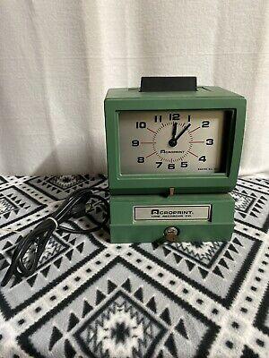 Acroprint Time Clock Punch Time Recorder Model 125ER3