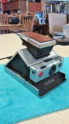 Vintage Polaroid SX-70 Land Camera with Brown Leather Case