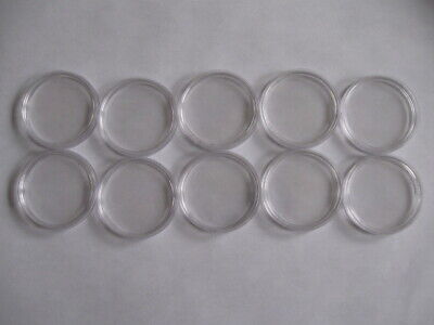 10 Lighthouse Caps 39mm Coin Capsules for 1 oz Silver Rounds ~3.0mm Thick