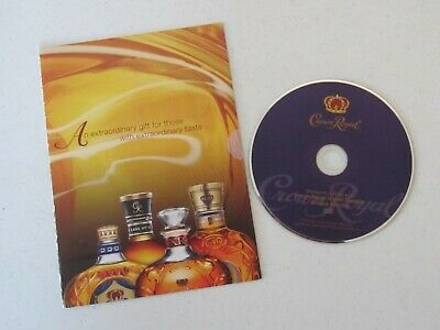 Rare Vintage Seagram's CROWN ROYAL Collectible DVD -  ONLINE TASTING EVENT