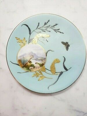 E J Bodley English Aesthetic Movement Turquoise,Gold,Platinum Gilded Butterflies